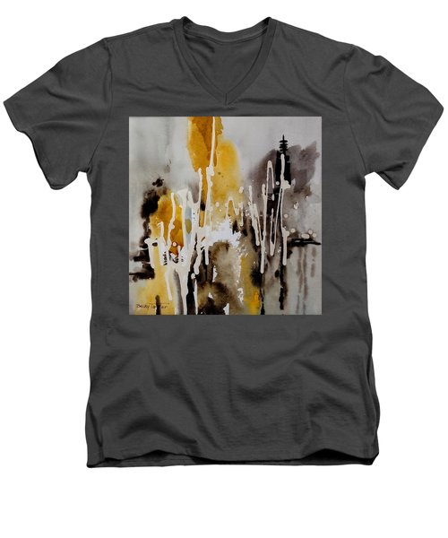 Abstract Scene Men's V-Neck T-Shirt