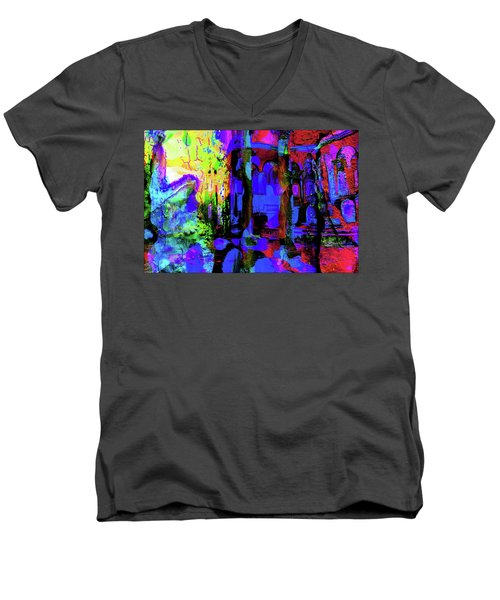 Abstract Series 0177 Men's V-Neck T-Shirt