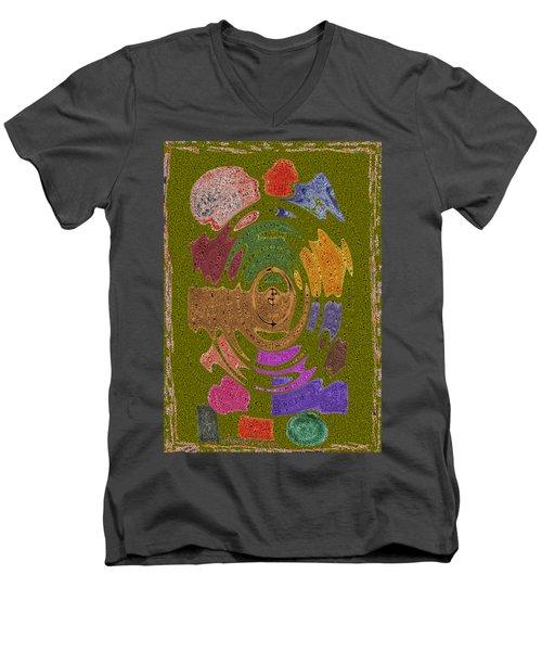 Abstract Shapes Men's V-Neck T-Shirt