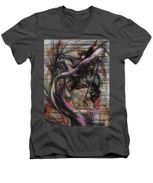 Abstract Sketch 1334 Men's V-Neck T-Shirt