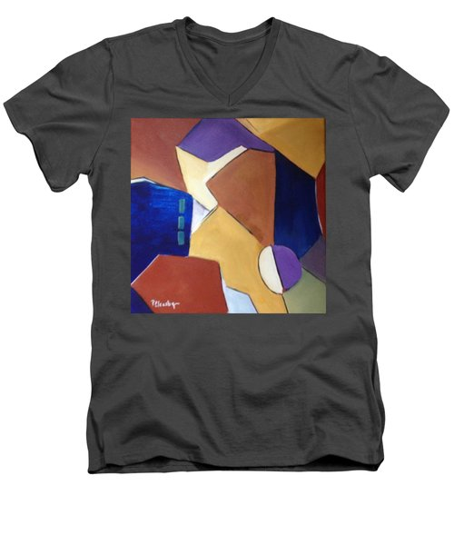 Abstract Square  Men's V-Neck T-Shirt by Patricia Cleasby