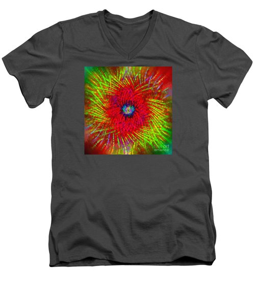 Men's V-Neck T-Shirt featuring the photograph Abstract Swirl 03 by Jack Torcello