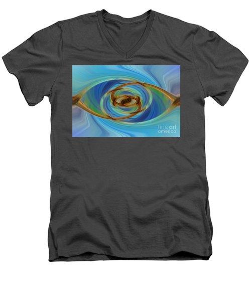 Abstract Tennis Men's V-Neck T-Shirt