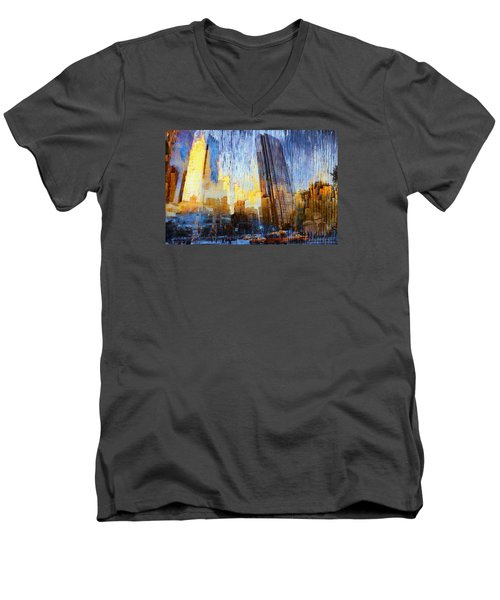 Men's V-Neck T-Shirt featuring the photograph Abstract Vision by John Rivera