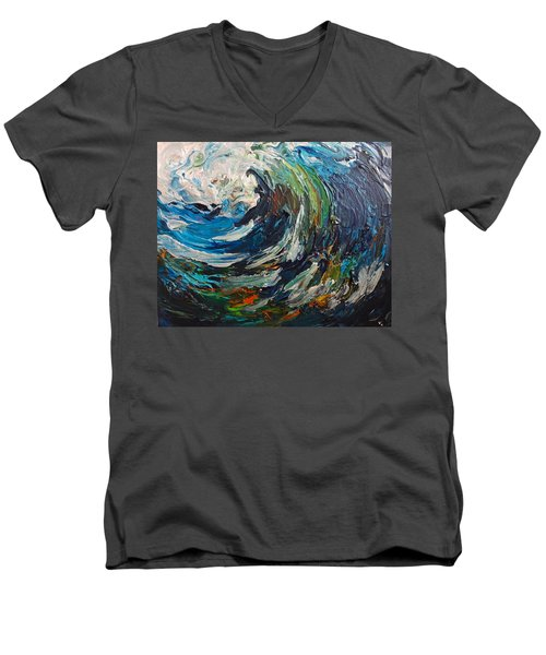 Abstract Wild Wave  Men's V-Neck T-Shirt