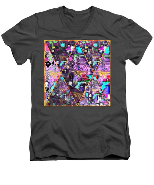 Abstract Windows Men's V-Neck T-Shirt