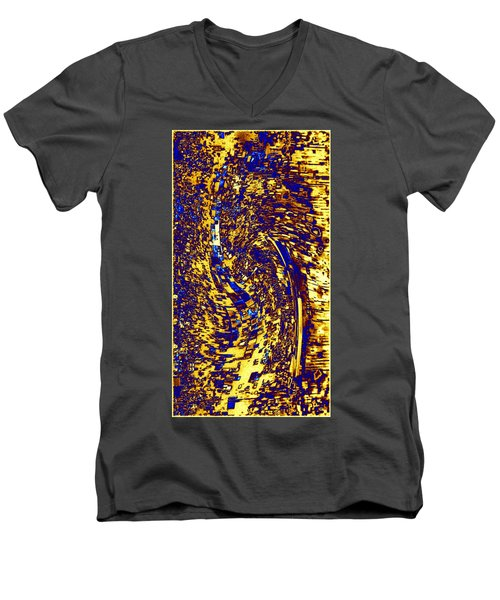 Men's V-Neck T-Shirt featuring the digital art Abstractmosphere 3 by Will Borden