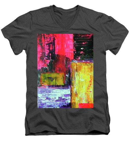 Abstractor Men's V-Neck T-Shirt by Everette McMahan jr