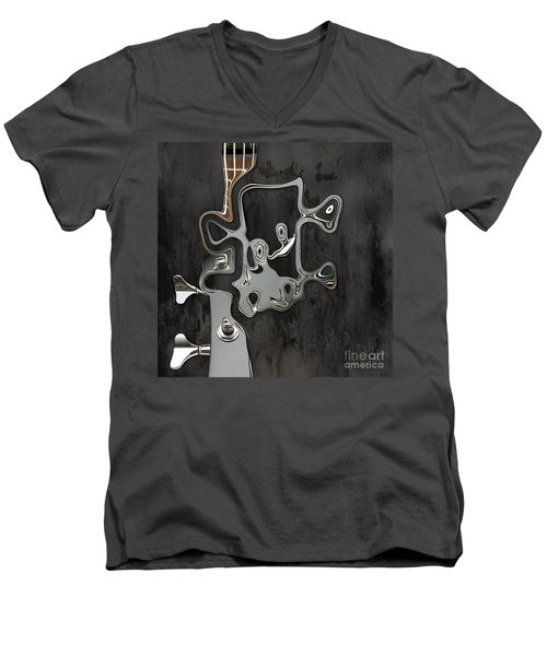 Men's V-Neck T-Shirt featuring the digital art Abstrait En Sol Majeur  by Variance Collections