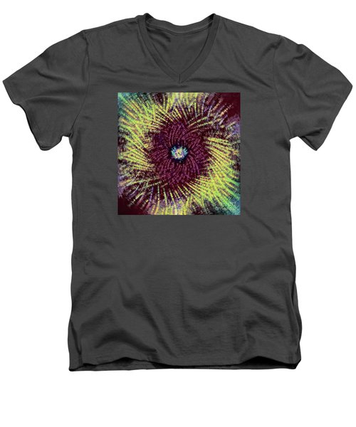 Men's V-Neck T-Shirt featuring the photograph Abstract Swirl 02 by Jack Torcello