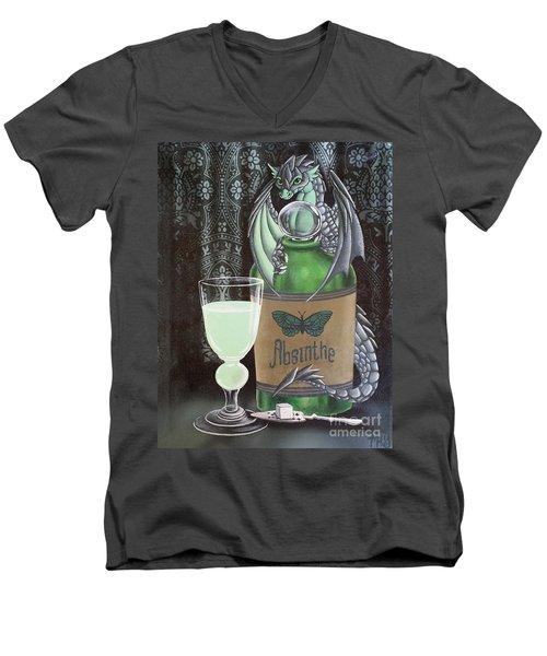 Absinthe Dragon Men's V-Neck T-Shirt