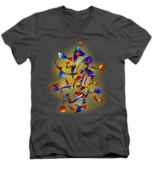 Abugila V5 Men's V-Neck T-Shirt by Cersatti