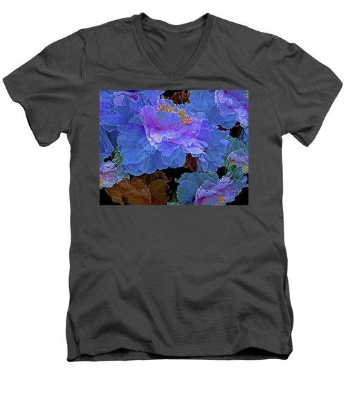 Abundance  Men's V-Neck T-Shirt by Lynda Lehmann