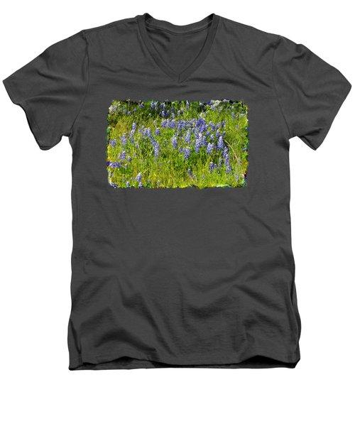 Abundance Of Blue Bonnets Men's V-Neck T-Shirt