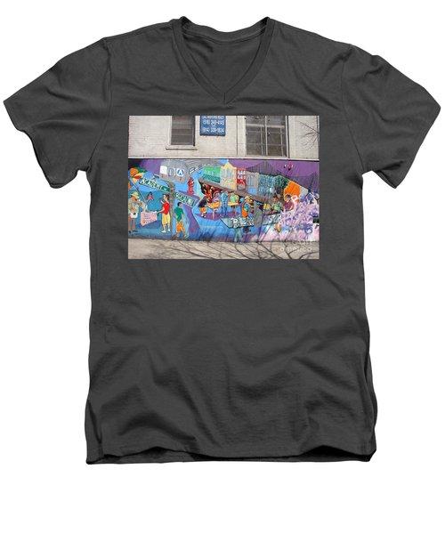 Academy Street Mural Men's V-Neck T-Shirt