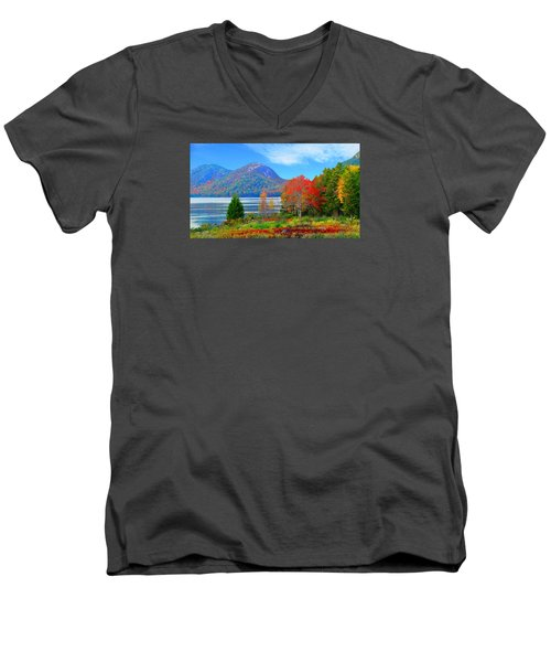 Acadia National Park Men's V-Neck T-Shirt
