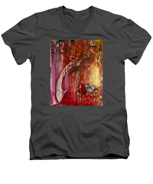 Ace Of Swords Men's V-Neck T-Shirt by Ashley Kujan