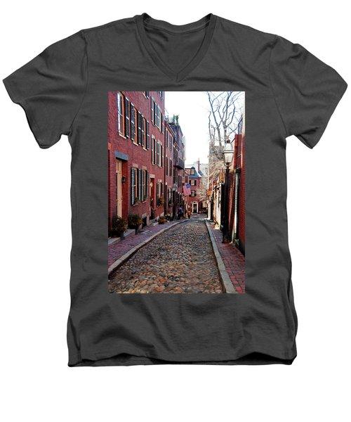 Acorn Street Beacon Hill Men's V-Neck T-Shirt