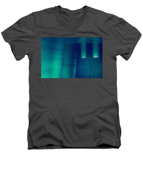 Men's V-Neck T-Shirt featuring the photograph Acoustic Wall by Bobby Villapando