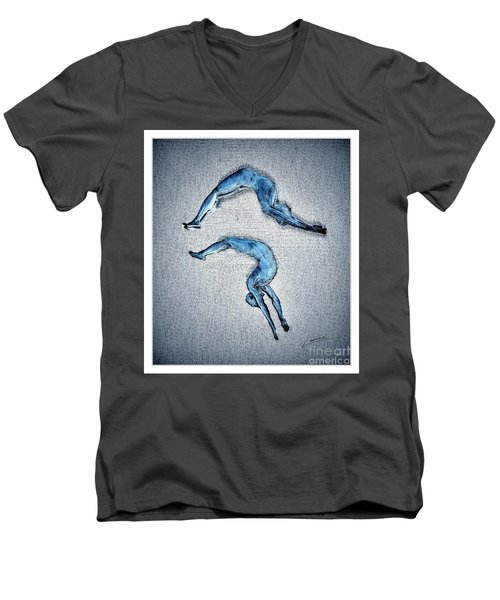 Acrobatic Gesture Men's V-Neck T-Shirt