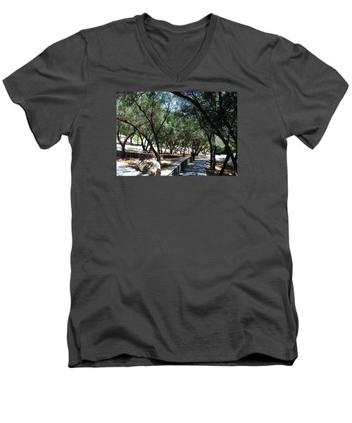 Men's V-Neck T-Shirt featuring the photograph Acropolis Trail by Robert Moss