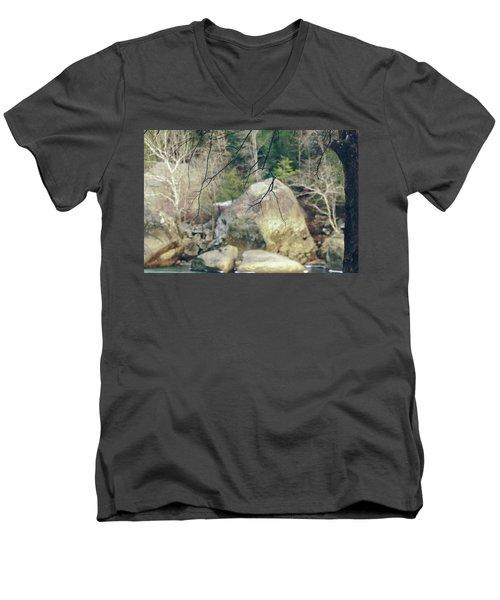 Across From Eagle Falls Men's V-Neck T-Shirt