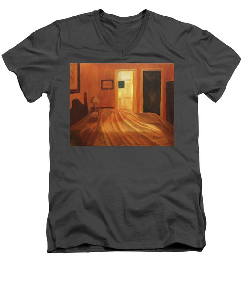 Across The Bed Men's V-Neck T-Shirt