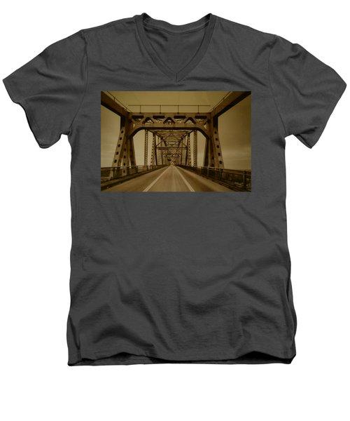Across The Old Bridge Men's V-Neck T-Shirt