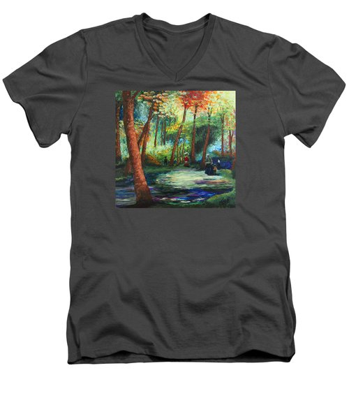 Acrylic Msc 217 Men's V-Neck T-Shirt