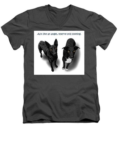 Act Like An Angel Men's V-Neck T-Shirt
