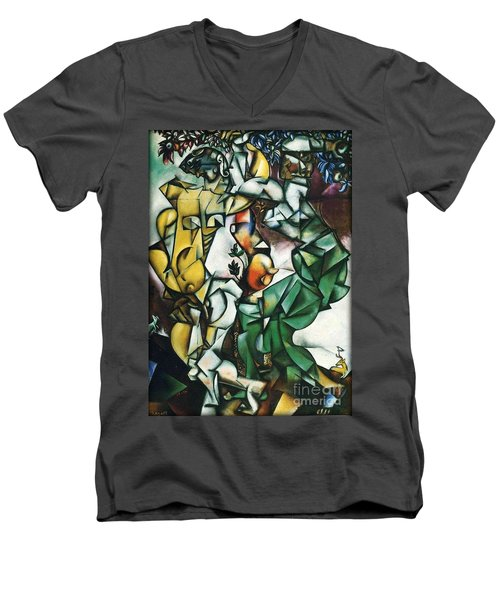 Adam And Eve Men's V-Neck T-Shirt
