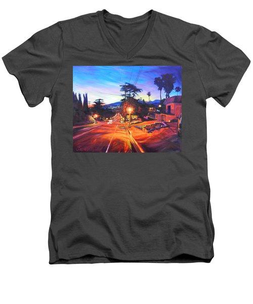 Twilight Passion Men's V-Neck T-Shirt by Bonnie Lambert