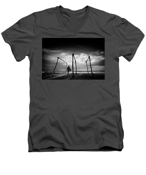 Add Lib Men's V-Neck T-Shirt