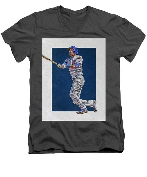 Addison Russell Chicago Cubs Art Men's V-Neck T-Shirt