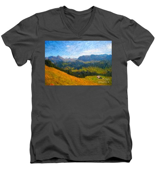 Adelboden Countryside Men's V-Neck T-Shirt