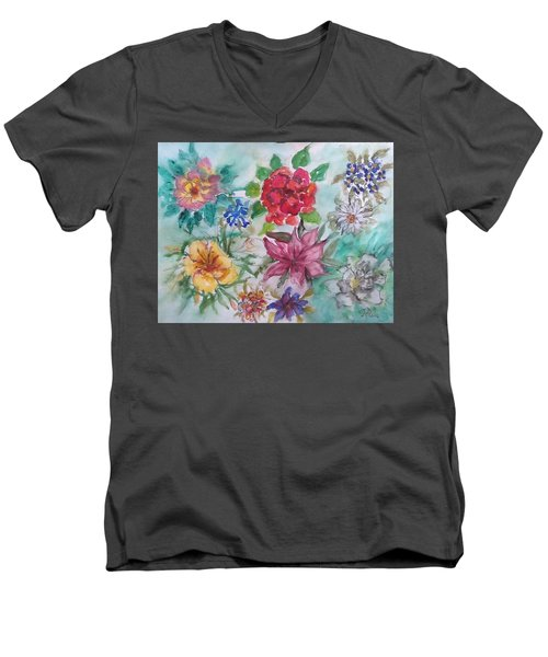 Adele's Garden Men's V-Neck T-Shirt