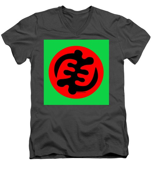 Adinkra Symbol Gye Nyame Except God Only God Men's V-Neck T-Shirt