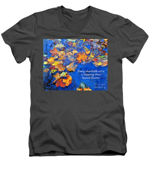 Adironack Laughing Water Charity Men's V-Neck T-Shirt by Diane E Berry