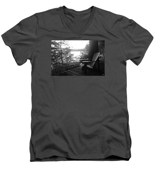 Adirondack In Maine Men's V-Neck T-Shirt