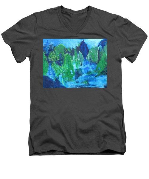 Adirondack Spring Men's V-Neck T-Shirt by Betty Pieper