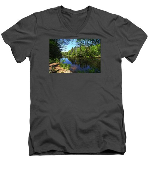 Adirondack Waters Men's V-Neck T-Shirt