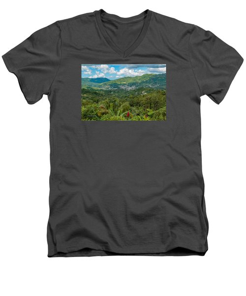 Adjuntas Men's V-Neck T-Shirt by Jose Oquendo