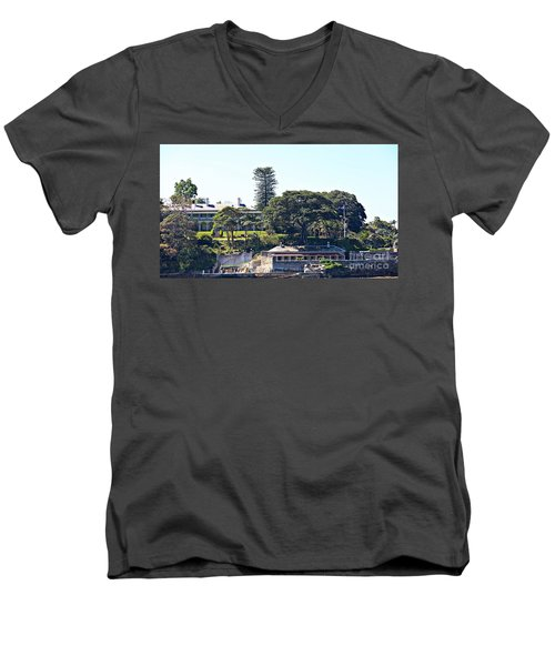 Men's V-Neck T-Shirt featuring the photograph Admiralty House by Stephen Mitchell