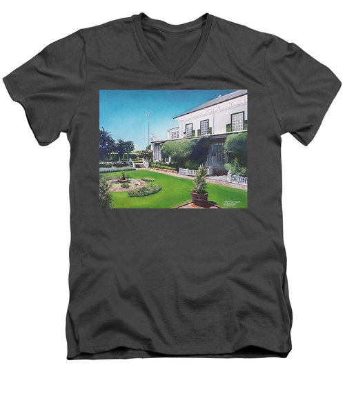 Admiralty House Men's V-Neck T-Shirt by Tim Johnson