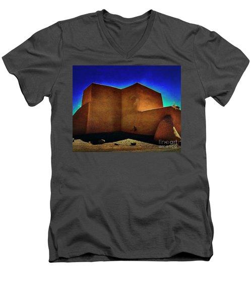 Adobe Church II Men's V-Neck T-Shirt