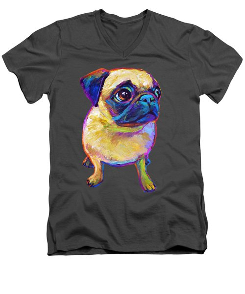 Adorable Pug Men's V-Neck T-Shirt