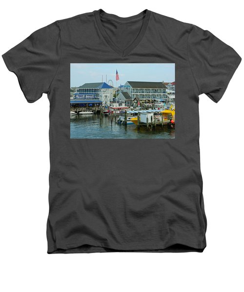 Adult Fun - Ocean City Md Men's V-Neck T-Shirt by Emmy Marie Vickers