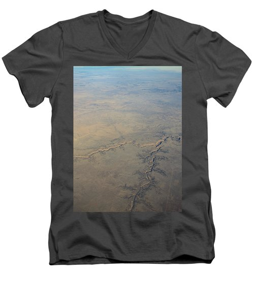 Men's V-Neck T-Shirt featuring the photograph Aerial 2 by Steven Richman