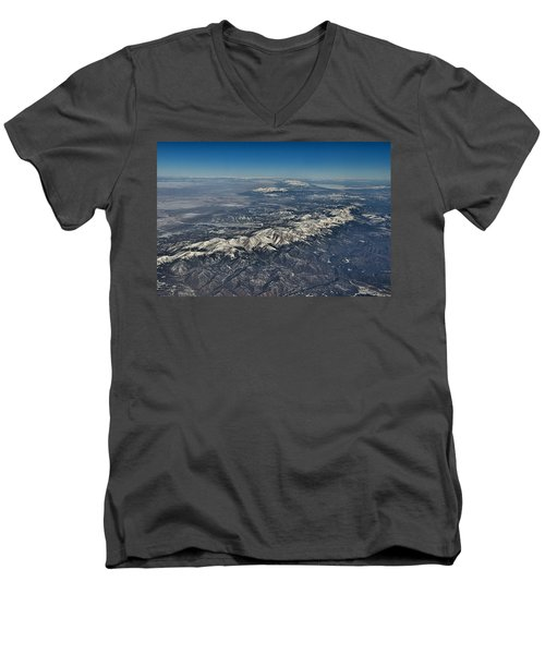 Men's V-Neck T-Shirt featuring the photograph Aerial 3 by Steven Richman