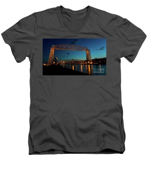Aerial Lift Bridge Men's V-Neck T-Shirt
